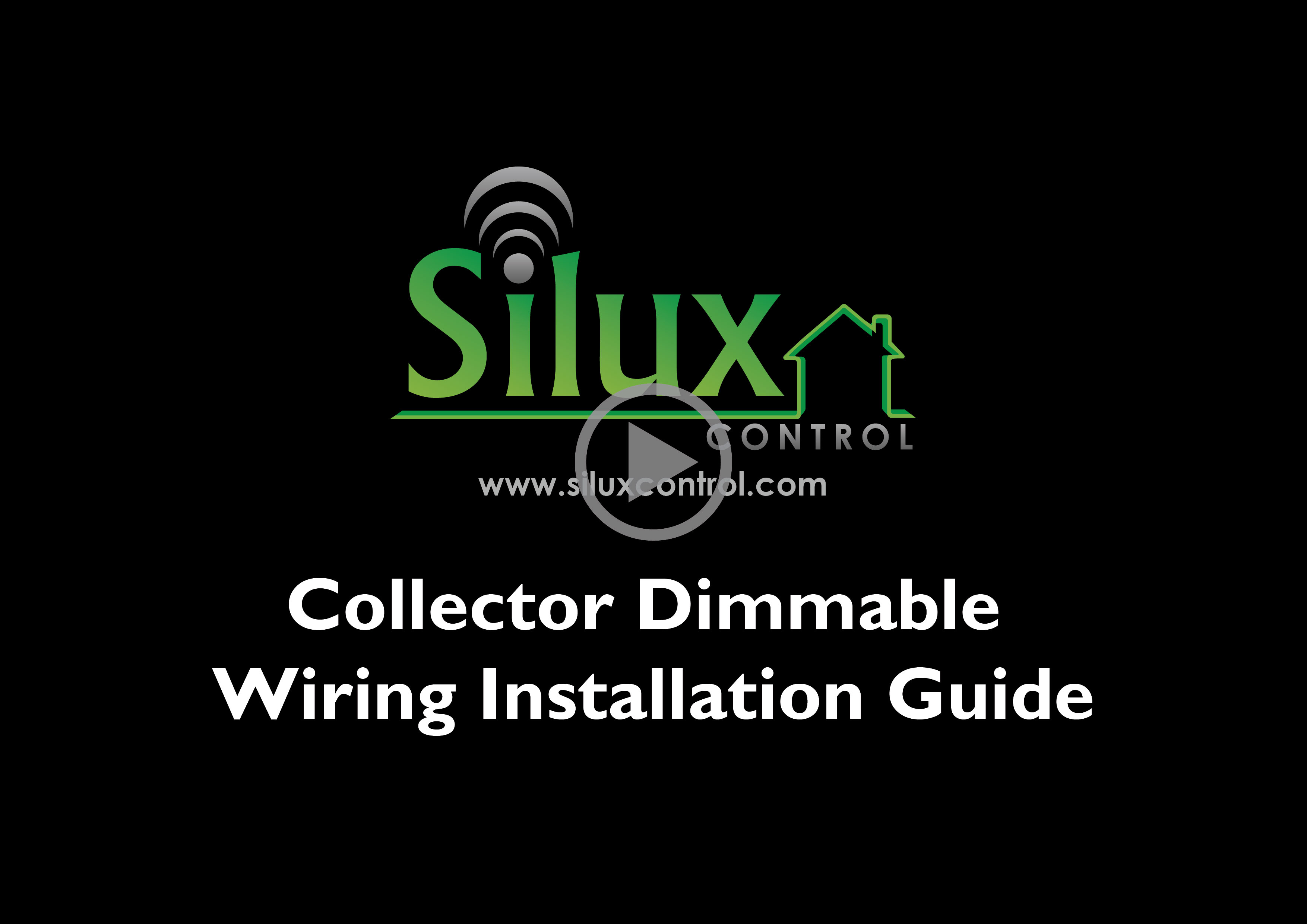 Silux control collector dimmable instruction video
